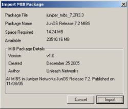 Import Unbrowse MIB Package