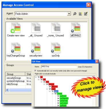 Manage VACM SNMP access